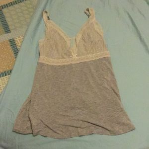 Super soft sleep tank with lace m, size m